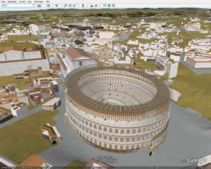 google earth zeigt das alte rom