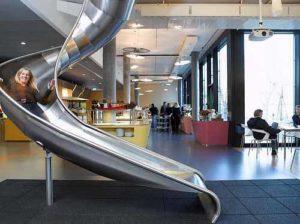 Das Google Office in Zürich – zwischen Rutschen und Aquarien